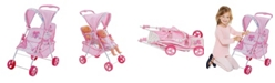 Redbox Hauck Love Heart Pretend Play Twin Baby Dolls Stroller