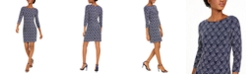 Jessica Howard Petite Glitter-Knit Sheath Dress