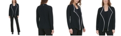 Calvin Klein Piped Open-Front Jacket