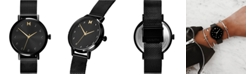 MVMT Women's Caviar Black Stainless Steel Mesh Bracelet Watch 36mm