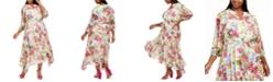 Taylor Plus Size Floral Midi Dress