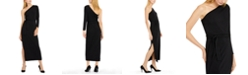 INC International Concepts INC Petite One-Shoulder Belted Maxi Dress, Created For Macy's