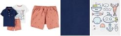 Carter's Baby Boys 3-Pc. Cotton Nautical Adventures Polo Shirt, T-Shirt & Shorts Set