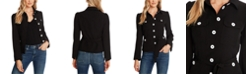 CeCe Point-Collar Belted Jacket