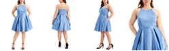 City Studios Trendy Plus Size Satin Skater Dress