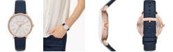 Michael Kors Women's Pyper Navy Leather Strap Watch 38mm