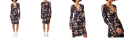French Connection Printed Faux-Wrap Dress