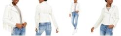 Vigoss Jeans Fringe Moto Jacket