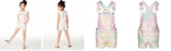 Epic Threads Little Girls Rainbow Tie-Dye Shortalls, Created for Macy's