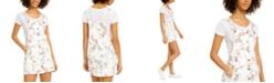 Tinseltown Juniors' Floral-Print Button-Front Skirtall