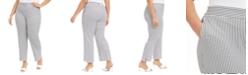 Nine West Plus Size Jacquard-Print Pull-On Modern Dress Pants