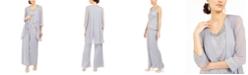 R & M Richards 3-Pc. Jacket, Lace Top & Wide-Leg Pants Set