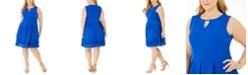 Jessica Howard Plus Size Keyhole Fit & Flare Dress