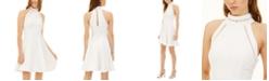 B Darlin Juniors' Lattice Halter Fit & Flare Dress