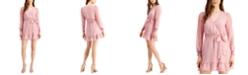 Q & A Wrap-Style Mini Dress