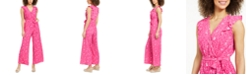 Charter Club Printed Belted Jumpsuit, Created for Macy's