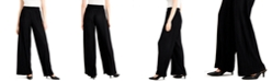 Alfani Petite Pleated Plissé Wide-Leg Pants, Created for Macy's