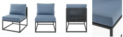 Walker Edison Outdoor Modern Modular Patio Side Chair