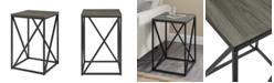 "Walker Edison 16"" Modern Geometric Square Side Table"