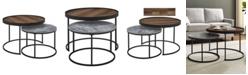"Walker Edison 30"" Nesting Coffee Tables, Set of 2"