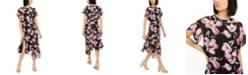 INC International Concepts INC Floral Asymmetrical-Hem A-Line Dress, Created for Macy's