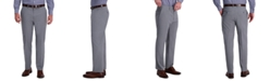 Haggar J.M. Men's Classic-Fit 4-Way Stretch Textured Plaid Performance Dress Pants