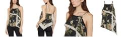BCBGMAXAZRIA Floral-Print Asymmetrical Top