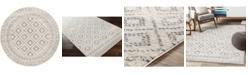 "Abbie & Allie Rugs Sunderland SUN-2301 Silver 5'3"" x 5'3"" Round Area Rug"