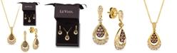 Le Vian 2-Pc. Set Chocolate Diamond (3/8 ct. t.w.) & Nude Diamond (5/8 ct. t.w.) Pendant Necklace & Matching Drop Earrings in 14k Gold