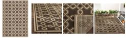 "Martha Stewart Collection MSR4253 Chocolate 4' x 5'7"" Area Rug"