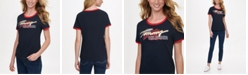 Tommy Hilfiger Cotton Logo Ringer T-Shirt, Created for Macy's