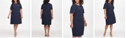 Tommy Hilfiger Plus Size Hardware-Sleeve Shift Dress