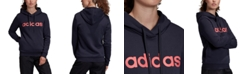 adidas Women's Essentials Linear Fleece Hoodie