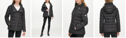 DKNY Asymmetrical Hooded Packable Puffer Coat, Created for Macy's