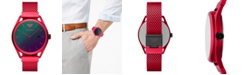 Emporio Armani Men's Red Aluminum Mesh Bracelet Watch 43mm