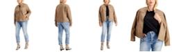Jou Jou Juniors' Trendy Plus Size Faux-Leather Jacket