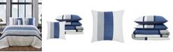 London Fog Newport Stripe Microsuede Bedding Collection