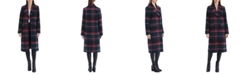 Avec Les Filles Plaid Walker Coat, Created for Macy's