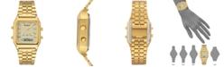Armitron Men's Analog-Digital Gold-Tone Stainless Steel Bracelet Watch 32.5mm