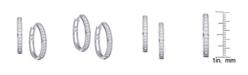 Macy's Cubic Zirconia Pave Round Hoop Earrings