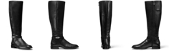 Michael Kors Finley Wide Calf Leather Riding Boots
