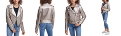Calvin Klein Jeans Belted Faux-Leather Moto Jacket