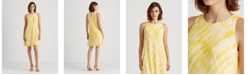 Lauren Ralph Lauren Tie-Dye Georgette Shift Dress
