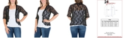 24seven Comfort Apparel Women's Plus Size Ruffle Lace Bolero Shrug