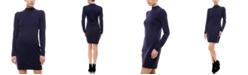 Planet Gold Juniors' Puff Sleeve Sweater Dress
