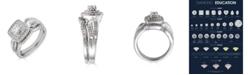 Macy's Diamond Double Halo  (5/8 ct. t.w.) Bridal Set in 14K White Gold