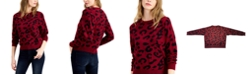 Bar III Cheetah Print Sweater, Created for Macy's