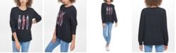 DKNY 3 Girls Graphic Print Sweatshirt