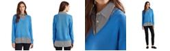 Lauren Ralph Lauren Layered-Look V-Neck Sweater