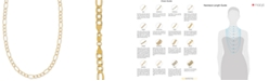 """Italian Gold 22"""" Figaro Chain Necklace (5-3/4mm) in 14k Gold"""